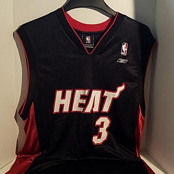 big sale c0823 0fe15 Reebok NBA Miami Heat DWAYNE WADE #3 Jersey M